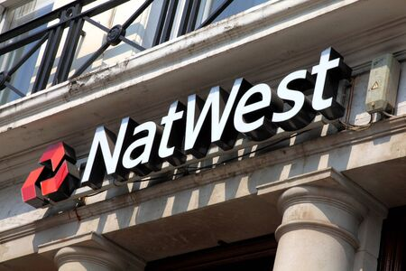 London, United Kingdom, Apr 24, 2011 : A Nat West Bank sign above one of its branches in Kensington Stock Photo - 9541766