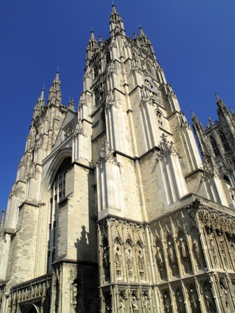 kent: Canterbury Cathedral in Canterbury Kent was founded by St Augustine in AD602 and is the cathedral of the Archbishop of Canterbury, the head of the Church Of England.