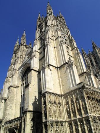 canterbury: La cath�drale de Canterbury � Canterbury Kent a �t� fond�e par saint Augustin dans AD602 et la cath�drale de l'archev�que de Canterbury, le chef de l'�glise d'Angleterre.