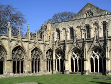 canterbury: Arcades du clo�tre de la cath�drale de Canterbury dans le Kent Canterbury, qui a �t� fond�e par saint Augustin dans AD602 et la cath�drale de l'archev�que de Canterbury, le chef de l'�glise d'Angleterre