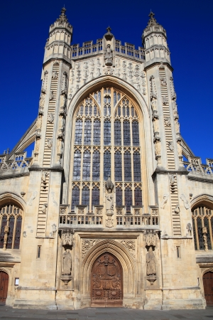 earlier: The Abbey Church of Saint Peter and Saint Paul,Bath in Somerset England usually known as Bath Abbey was founded in 1499 stands on the site of an earlier cathedral dating back to the 8th century Stock Photo