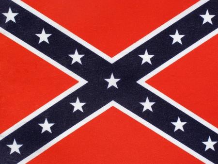 racisme: De Confederate Flag van de dertien Zuidelijke staten van Amerika tijdens de Amerikaanse Burgeroorlog, die vaak bekend staat als de Slag Vlag