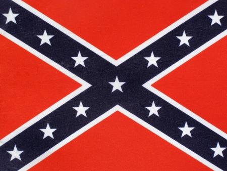 The Confederate Flag of the thirteen Confederate states Of  America used during the American Civil War, which is often known as the Battle Flag photo