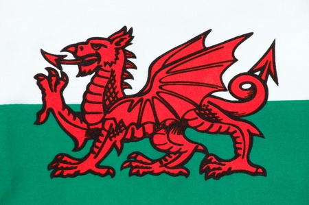 The national flag of Wales known as Y Ddraig Goch (The Red Baron) sadly not included in the Union Jack photo
