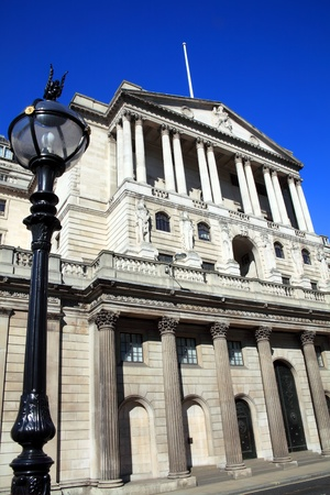 The Bank of England fondly known as The Old Lady Of Threadneadle Street in the heart of the City of London, England, UK.