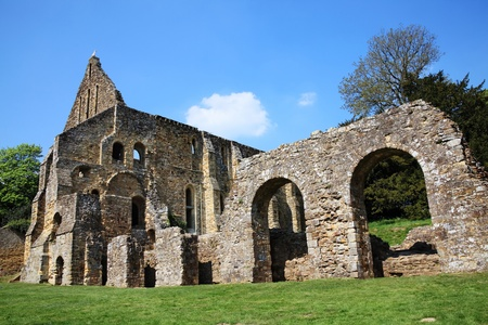 Battle Abbey at Battle near Hastings, Surrey, England is the burial place of King Harold, built at the battle field at the place were he fell, at the Battle of Hastings in 1066, built in the 11th century it is now an ancient ruin