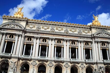 palais garnier: The Palais Garnier in Paris France which was designed by Charles Garnier and opened in 1875