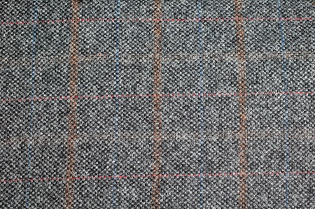 Tweed wool textile suit fabric material background photo