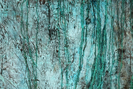 Bronze weathered background covered in rough green verdigris Stock Photo - 10864493