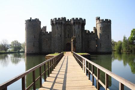 norman castle: Bodiam Castle near Robertsbridge, East Sussex, England, UK is a 14th century medieval moated castle Editorial