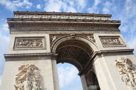 национальной достопримечательностью: Триумфальная арка в Париже, Франция, Французская национальная достопримечательность