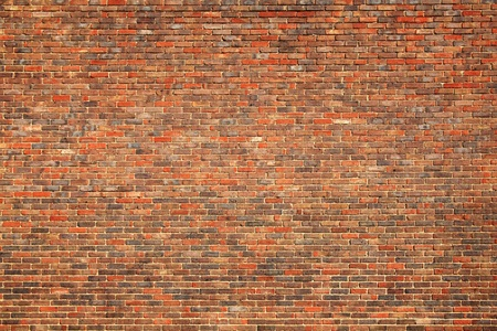 Old large red brick wall background photo