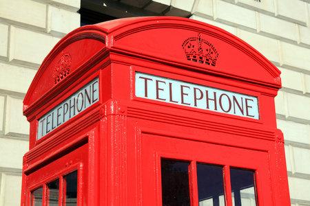 cabina telefonica: Tradicional rojo de Londres cabina telef�nica