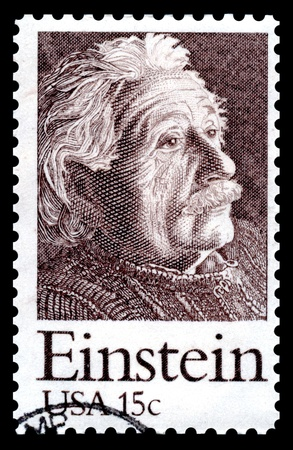 USA postage stamp of 1979 commemorating the 100th anniversary of the birth of  Albert Einstein