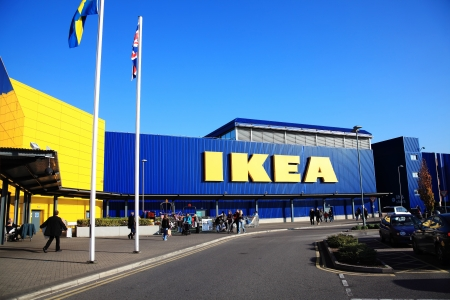 wembley: London, UK – November 19, 2011:  Ikea furniture retail store in Brent Park Wembley Editorial