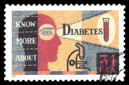 postage stamp: USA  postage stamp showing a diabetes awareness campaign in 2001