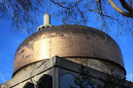 officially: London Central Mosque also known as the Islamic Cultural Centre in Regents Park, London, England, UK, had it s foundation stone laid in 1937 and officially opened by King George VI in 1944, although it was not completed until 1978