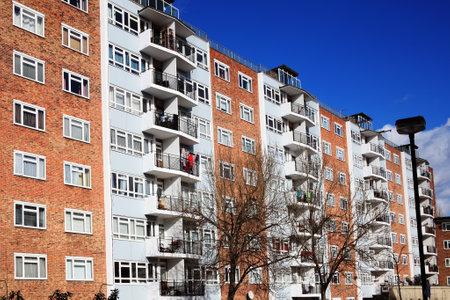 Public council housing apartments in London, England, UK