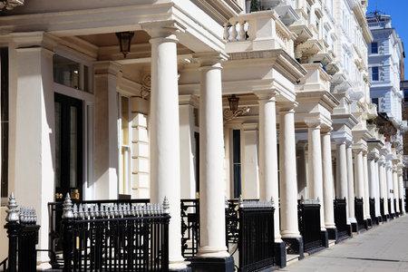 リージェンシー ジョージアン テラス s、ケンジントン、イングランド、英国のロンドンのタウンハウス