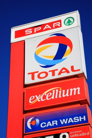London, UK, May 26, 2012 : A  Total petrol station sign in the Kilburn High Road showing its company logo Stock Photo - 14145497