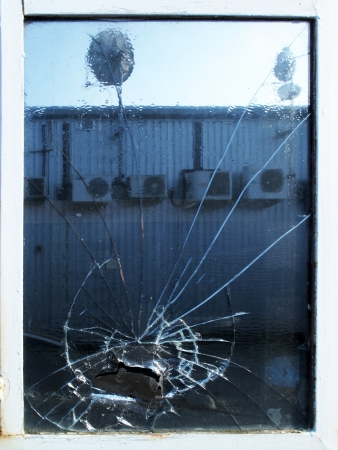 window pane: Shattered Window