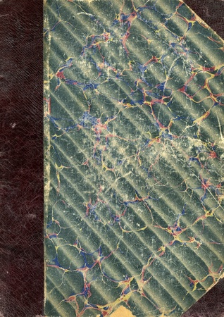 Victorian extra large old vintage distressed marbled textured book cover background dating from 1882 Stock Photo - 14216498