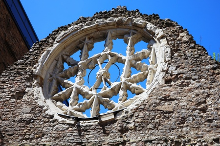 rose window: Rose Window Winchester Palace, London