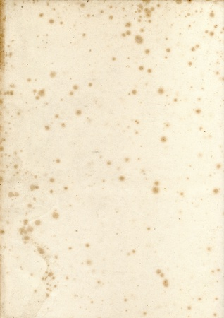 19th century: Old vintage early 19th century textured paper with mildew foxing background Stock Photo