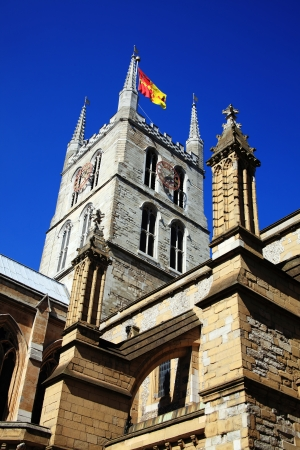 Southwark Cathedral stands at the south end of London Bridge, London, England, UK photo