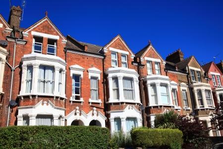 viviendas: Victorianas adosadas casas de la ciudad de Londres, Inglaterra, Reino Unido