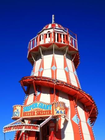Victorian helter skelter fairground amusement park ride Stock Photo - 15427073