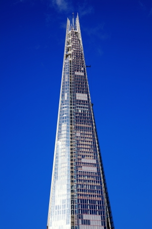 recently: London, UK – October 14, 2012: The Shard skyscraper at London Bridge has just been recently completed and will be open to the public to enjoy the the view from its observation deck on the 72nd floor