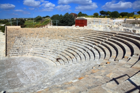 greco roman: The 2nd century BC Greco-Roman amphitheatre at Kourion near Limassol in Southern Cyprus