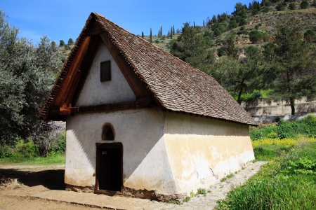 Panagia tou Moutoulla  Our Lady of  Moutoulla  built in 1279-80 is the oldest of the Troodos Mountains painted churches