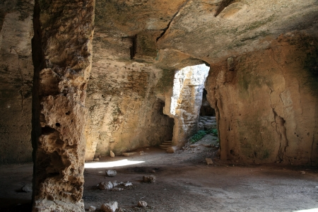fabrica: Christian Catacombs at Fabrica Hill, Paphos, Cyprus, which were used as a refuge from Roman persecution