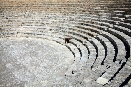 The 2nd century BC Greco-Roman amphitheatre at Kourion near Limassol in Southern Cyprus