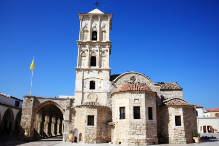 Agios Lazaros Church, Larnaca, Cyprus is a Byzantine church built by Emperor Leo VI in the  9th century. St Lazarus came to the island after being resurrected by Christ and his tomb can be seen under the sanctuary photo