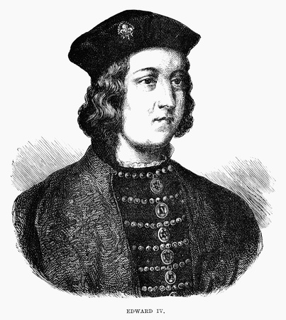 An engraved illustration portrait image of the Edward IV  king of England, UK, from a Victorian book dated 1883 that is no longer in copyright Stock Photo - 20062053