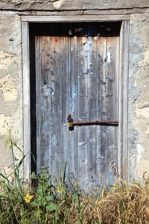Old wooden rustic weathered barn door Stock Photo - 21800245