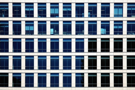 double glazing: Background of double glazed glass widows in an office block Stock Photo