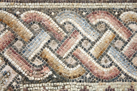 mosaic floor: Abstract 2nd century Roman mosaic border