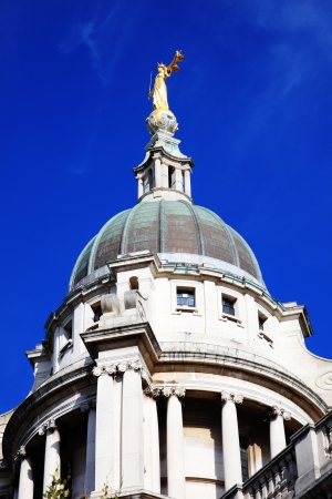 Scales of Justice of the Central Criminal Court fondly known as The Old Bailey in the city of London, England, UK