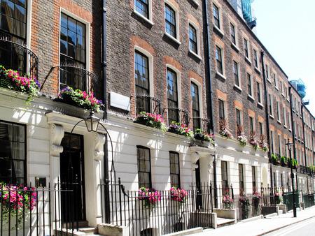 woonwijk: Georgische geschakelde herenhuizen in Westminster, Londen, Engeland Stockfoto