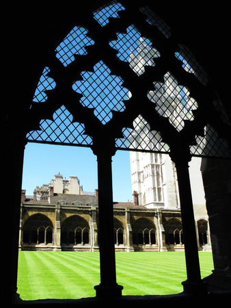 confessor: Cloisters of Westminster Abbey, London, England, UK, which was founded by Edward The Confessor in the 11th Century on the site of an old Benedictine abbey dating from 750AD