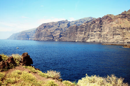 Los Gigantes, Tenerife, Canary Islands, Spain, famous for its giant cliffs of the ridge of the Teno massif which is 6 miles long and is a small holiday resort town photo