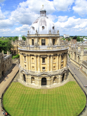 The Radcliffe Camera designed by James Gibbs and built in Oxford between 1737-1749 to originally house The Radcliffe Science Library, but now is the additional reading rooms for the Bodleian Library,Oxford, Oxfordshire, England,English, British, UK, Europ