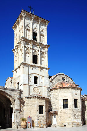 lazarus: Agios Lazaros Church, Larnaca, Cyprus is a Byzantine church built by Emperor Leo VI in the  9th century  St Lazarus came to the island after being resurrected by Christ and his tomb can be seen under the sanctuary Stock Photo