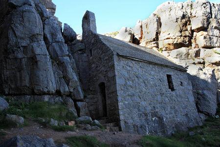 14th century: The 14th century St Govan s chapel, Bosherston, Pembrokeshire, Wales UK