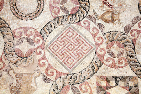 Abstract 2nd century Roman mosaic border photo