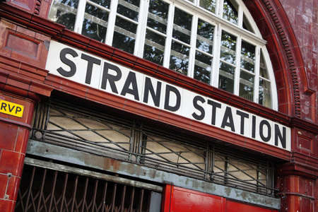 longer: London, United Kingdom, April 30, 2011  London Underground tube station at Strand which is now no longer in use